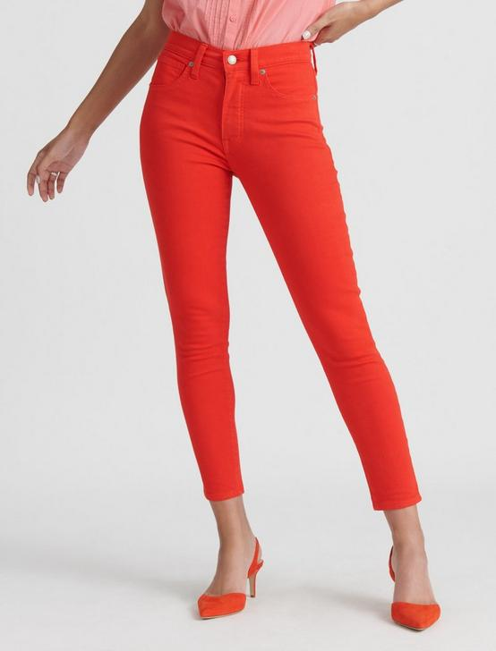 HIGH RISE BRIDGETTE SKINNY JEAN, FIERY RED, productTileDesktop