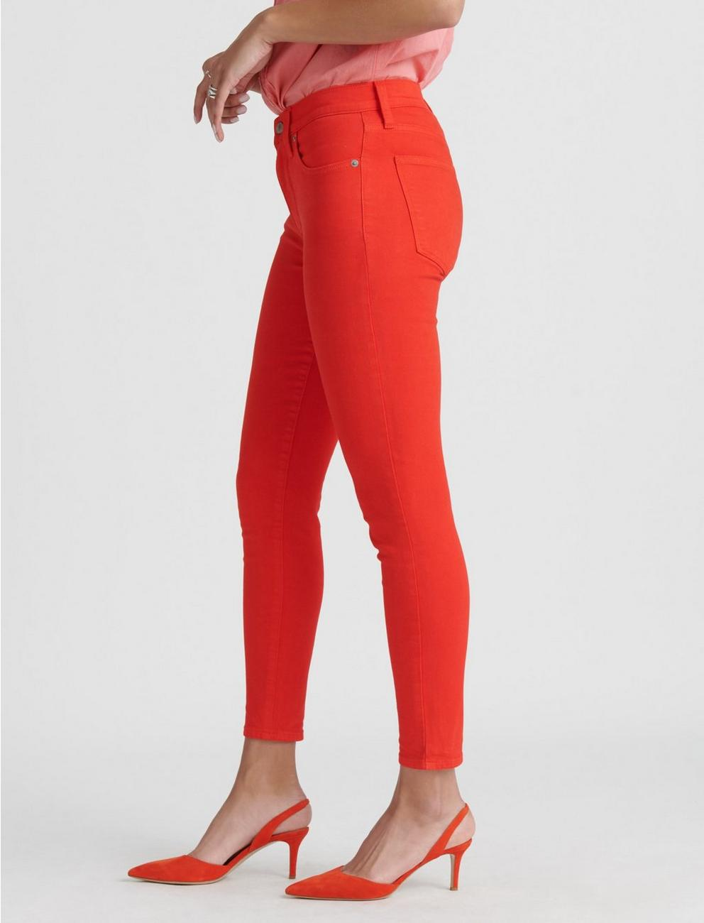 HIGH RISE BRIDGETTE SKINNY JEAN, FIERY RED