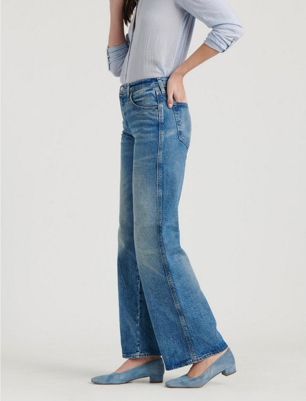 MID RISE AUTHENTIC WIDE LEG JEAN, HASBROUCK
