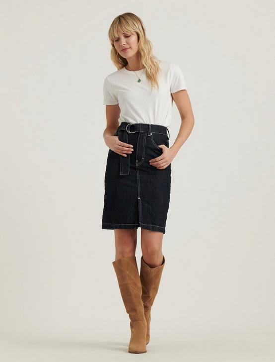 BELTED MINI SKIRT, RINSE, productTileDesktop