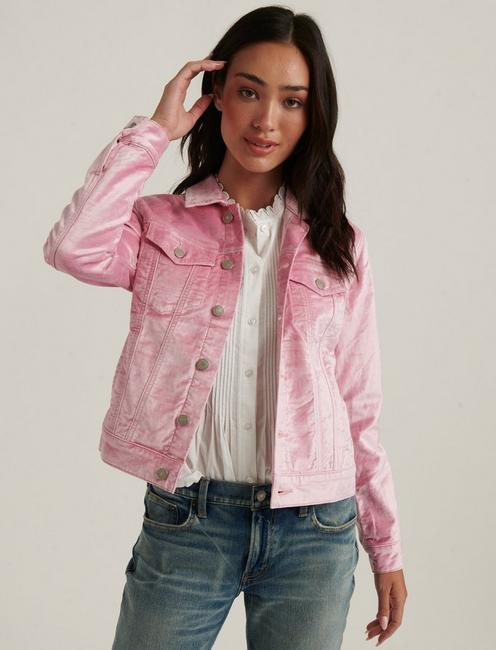 THE TOMBOY VELVET TRUCKER, SEASHELL PINK