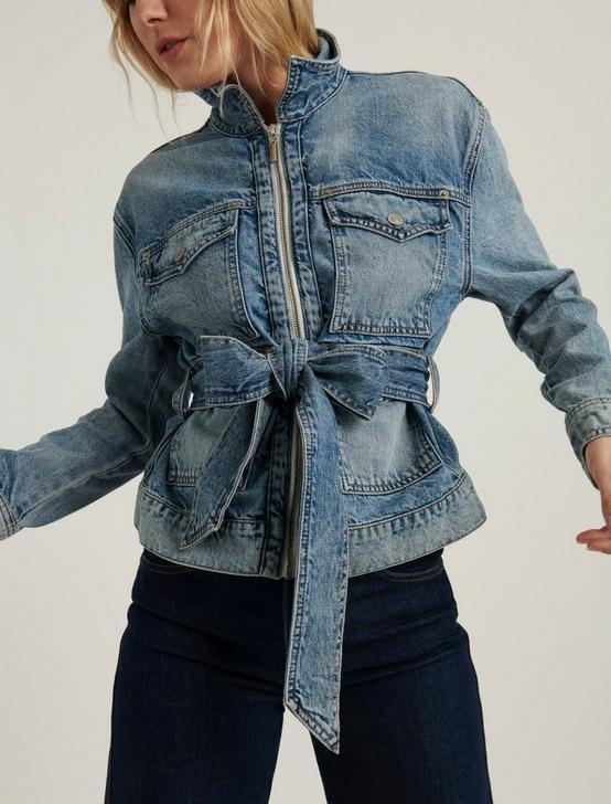 BELTED DENIM JACKET, MOONLIGHT, productTileDesktop