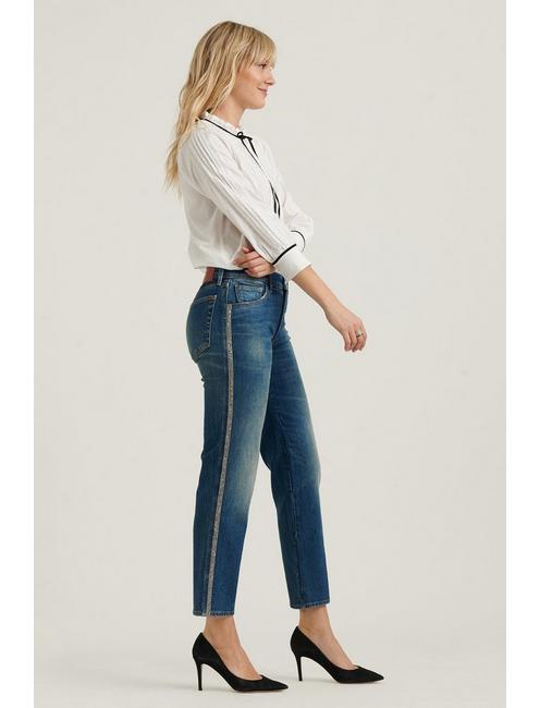MID RISE AUTHENTIC STRAIGHT JEAN, VEGA BLUE