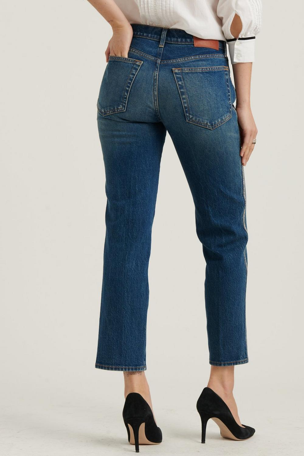 MID RISE AUTHENTIC STRAIGHT JEAN, image 6