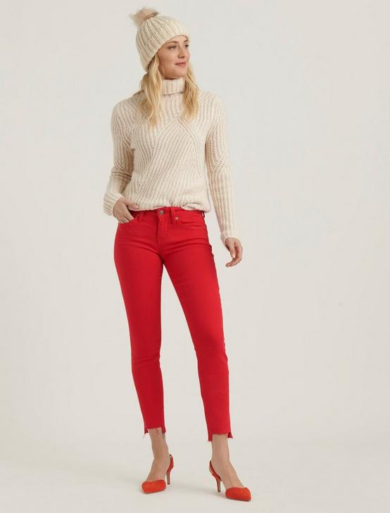 LOW RISE LOLITA SKINNY JEAN, SCARLET RED STEP, productTileDesktop