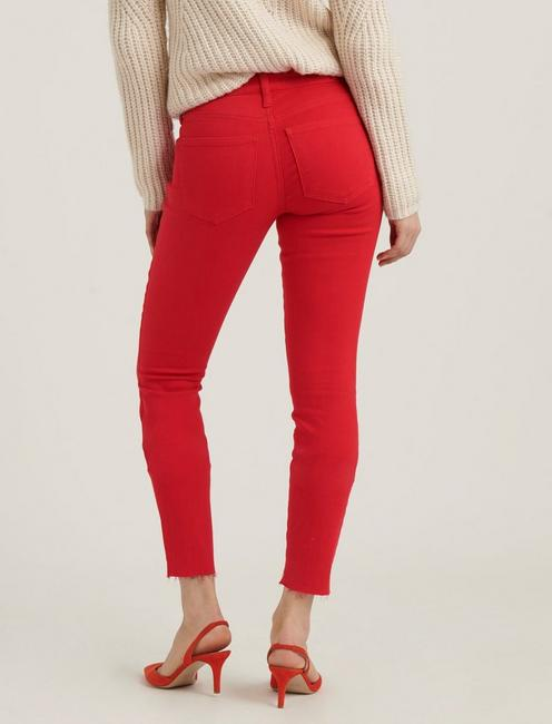 LOW RISE LOLITA SKINNY JEAN, SCARLET RED STEP