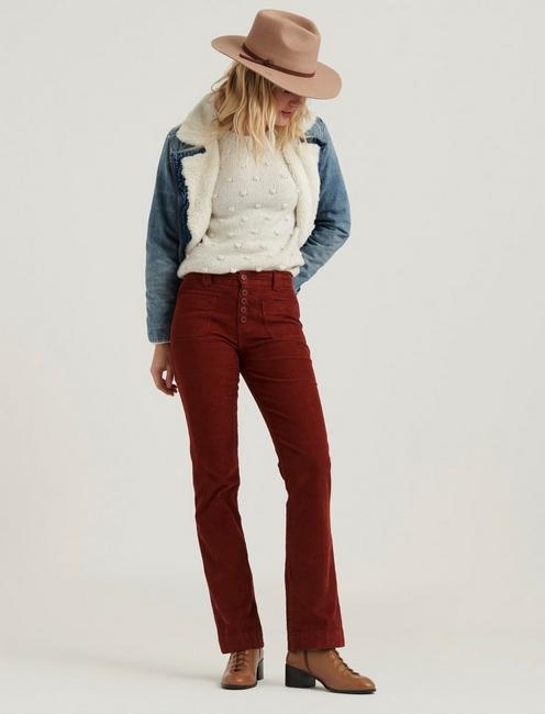 MID RISE AVA BOOT CORDUROY JEAN, HARVEST