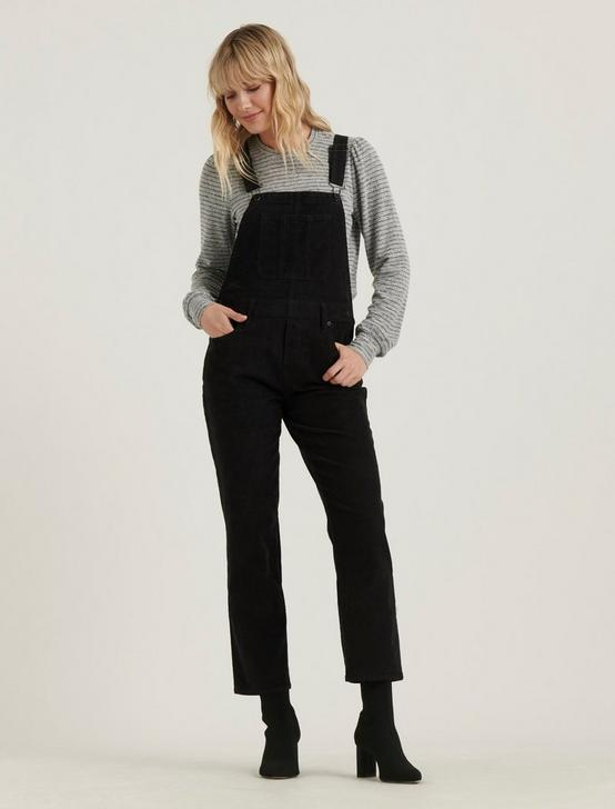 STRAIGHT LEG CORDUROY OVERALL, 001 LUCKY BLACK, productTileDesktop