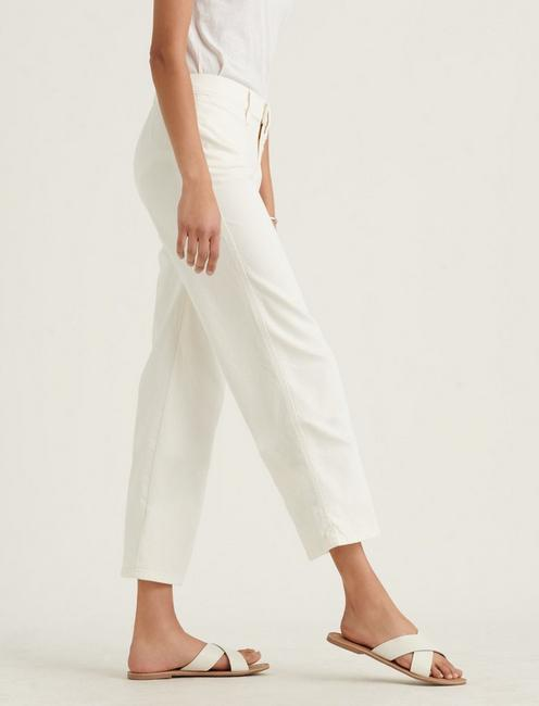 MID RISE CROP WIDE LEG JEAN, WHITE