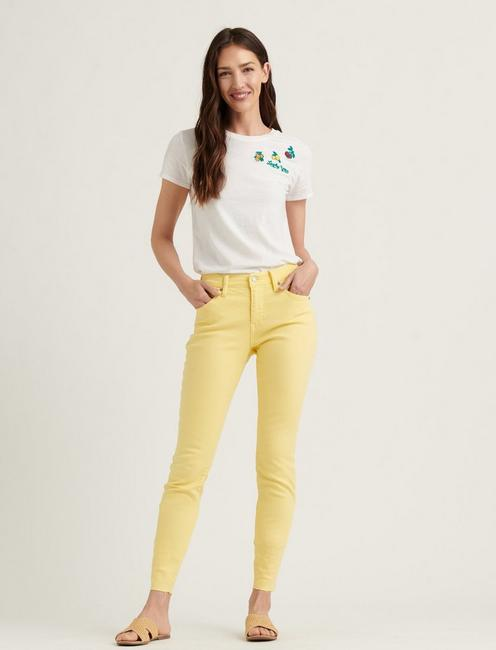MID RISE AVA CROP JEAN, MELLOW YELLOW CT