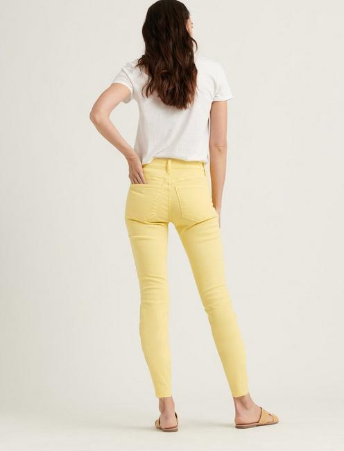 MID RISE AVA SKINNY JEAN, MELLOW YELLOW CT