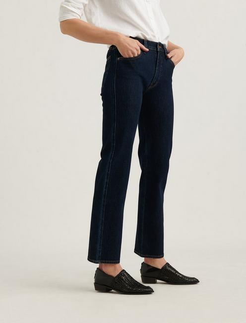 MID RISE AUTHENTIC STRAIGHT 4-WAY STRETCH JEAN, TEMPO