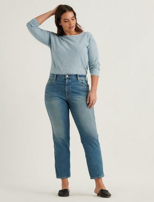 MID RISE AUTHENTIC STRAIGHT 4-WAY STRETCH JEAN, PROGRESS