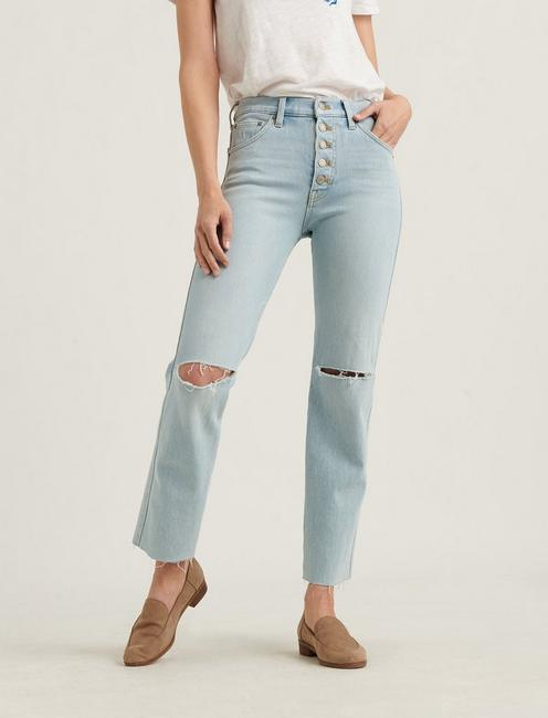MID RISE AUTHENTIC STRAIGHT 4-WAY STRETCH JEAN, LUNA DEST CT