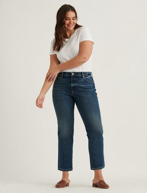 MID RISE AUTHENTIC STRAIGHT 4-WAY STRETCH JEAN, ROCCO