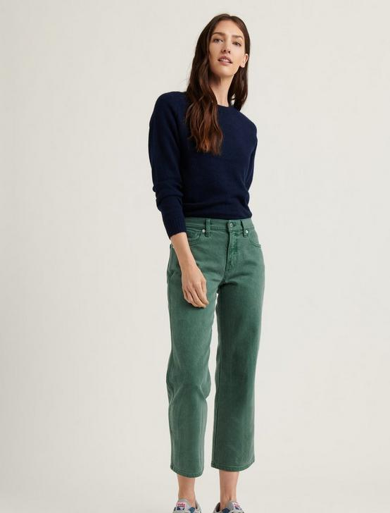 MID RISE CROP WIDE LEG JEAN, GARDEN GREEN, productTileDesktop