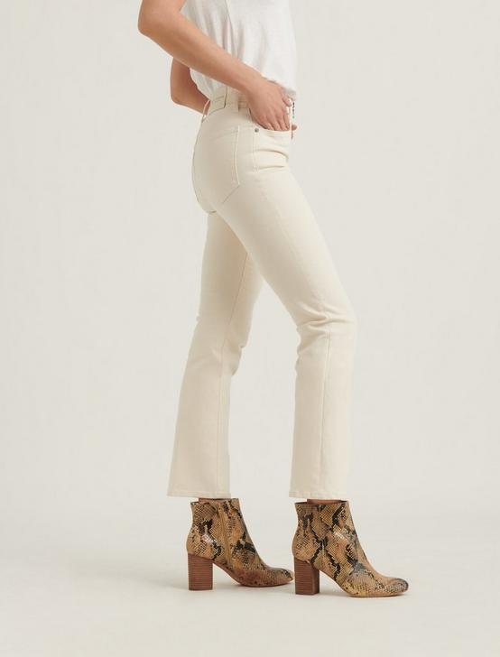 HIGH RISE BRIDGETTE CROP MINI BOOT JEAN, ECRU, productTileDesktop