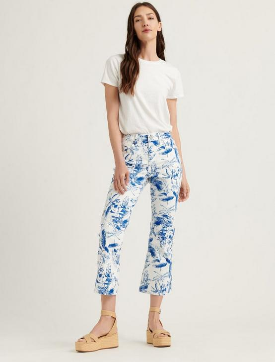 HIGH RISE BRIDGETTE CROP MINI BOOT JEAN, BLUE FLORAL, productTileDesktop