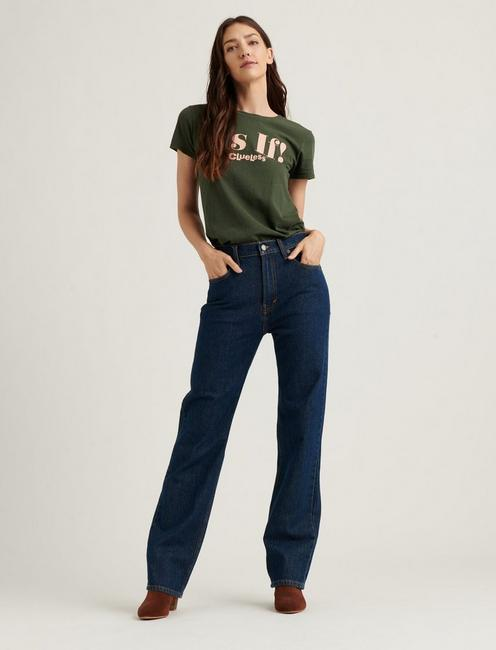 HIGH RISE RELAXED STOVE PIPE JEAN,