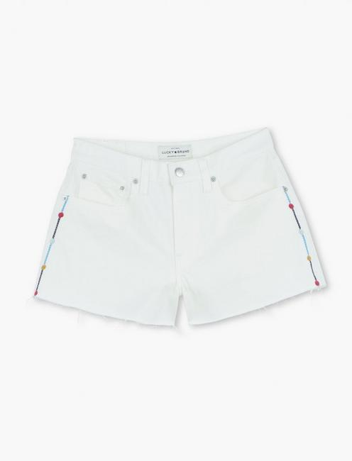 BOYFRIEND JEAN SHORT, CLEAN WHITE-CT