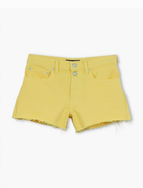 MID RISE CUT OFF SHORT, MELLOW YELLOW CT