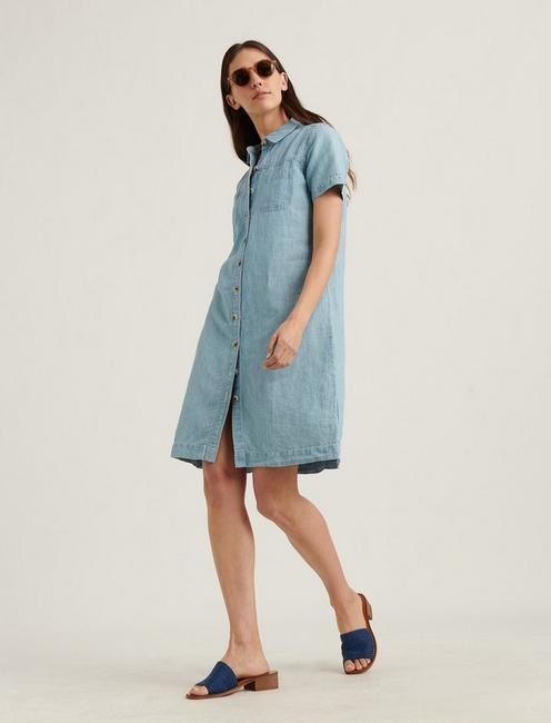 BUTTON FRONT SHIRT DRESS,