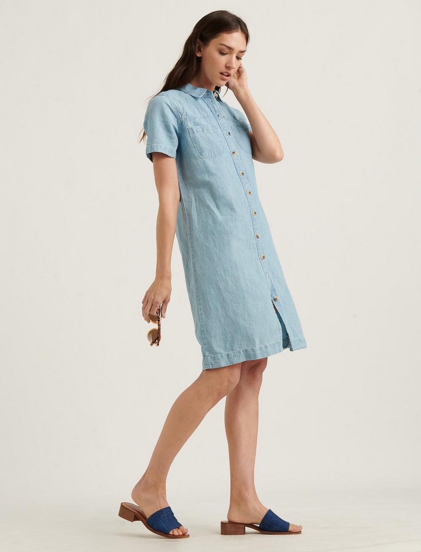 BUTTON FRONT SHIRT DRESS, image 2