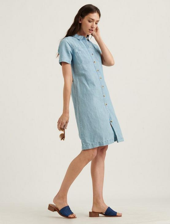 BUTTON FRONT SHIRT DRESS, MOONEY, productTileDesktop