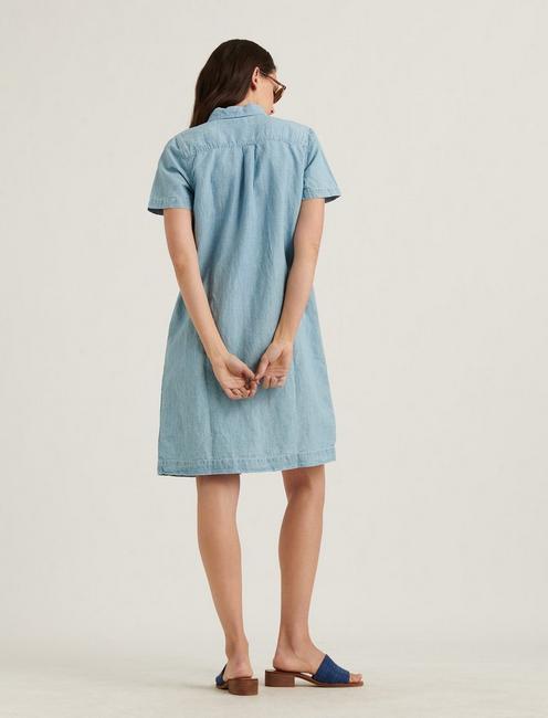 BUTTON FRONT SHIRT DRESS, MOONEY