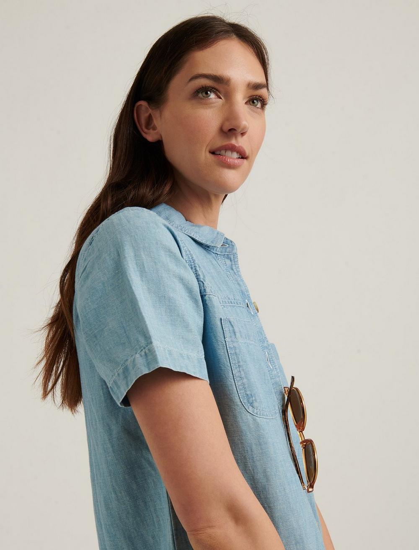 BUTTON FRONT SHIRT DRESS, image 4