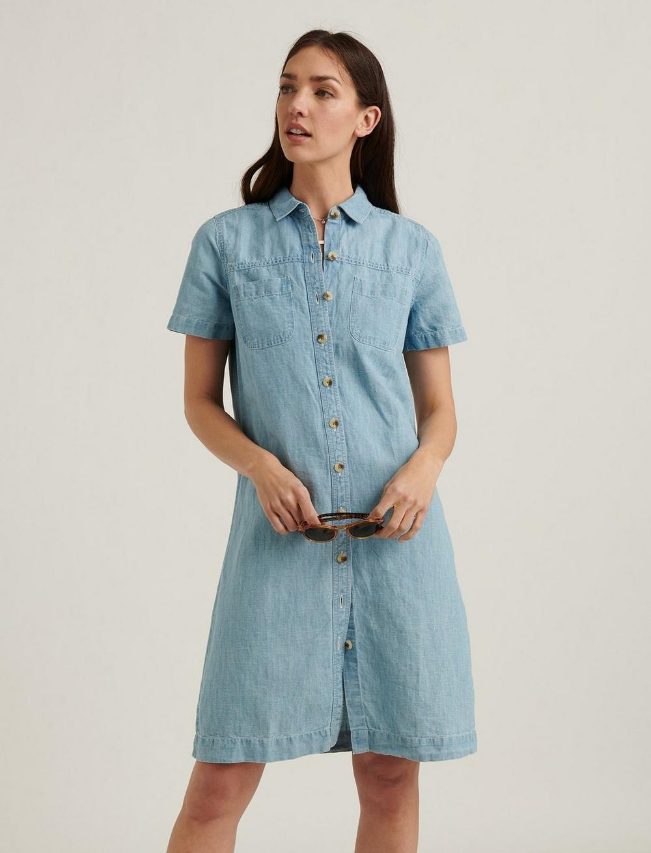 BUTTON FRONT SHIRT DRESS, image 5