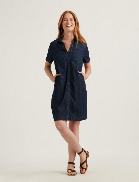 BUTTON FRONT SHIRT DRESS, SILK MIST, productTileDesktop