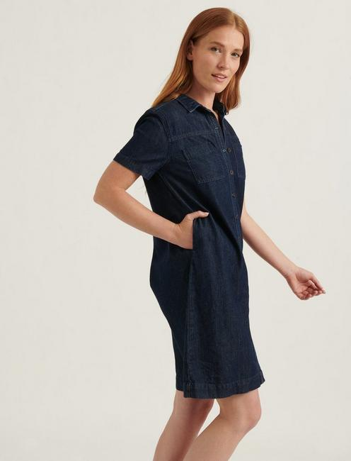 BUTTON FRONT SHIRT DRESS, SILK MIST