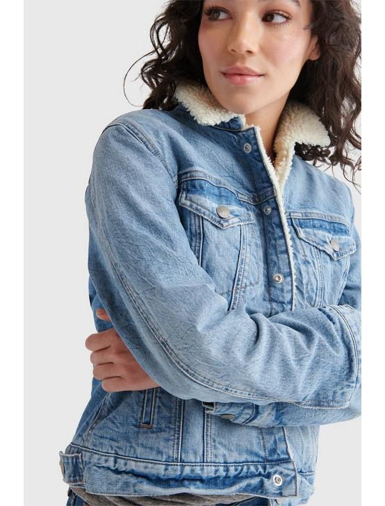 FAUX SHERPA DENIM JACKET, LAGA, productTileDesktop