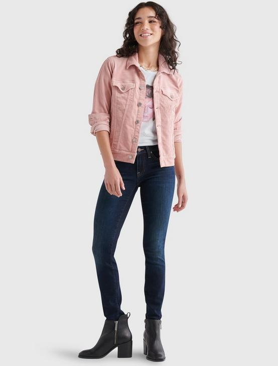 CORDUROY TOMBOY TRUCKER JACKET, ROSE TAN, productTileDesktop