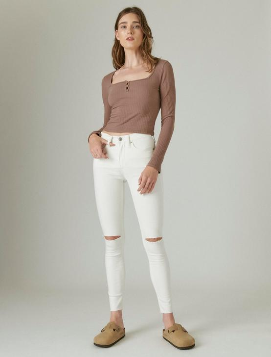 HIGH RISE BRIDGETTE SKINNY JEAN, BRIGHT WHITE DEST CT, productTileDesktop