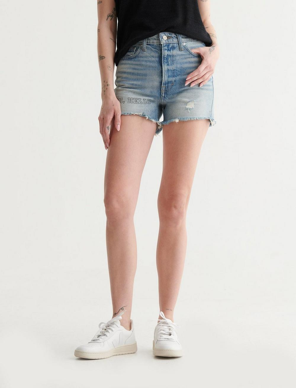 LUCKY PATCH HIGH RISE CUT OFF SHORT, image 1