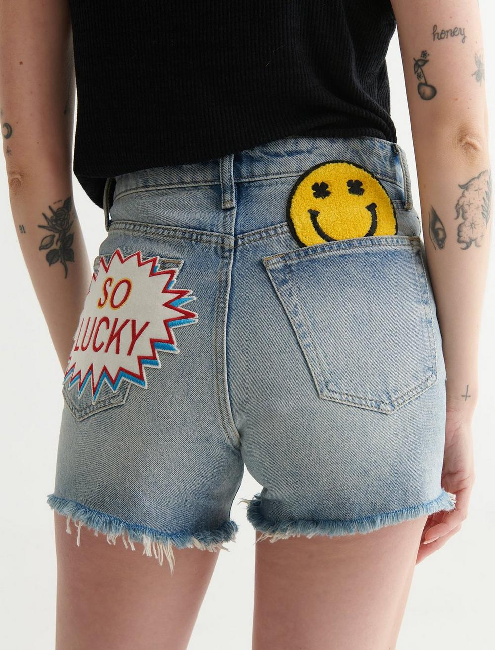 LUCKY PATCH HIGH RISE CUT OFF SHORT, image 5