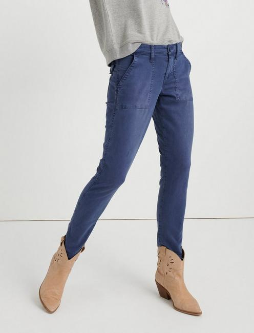 BOYFRIEND UTILITY PANT, PERFECTLY WORN BLUE