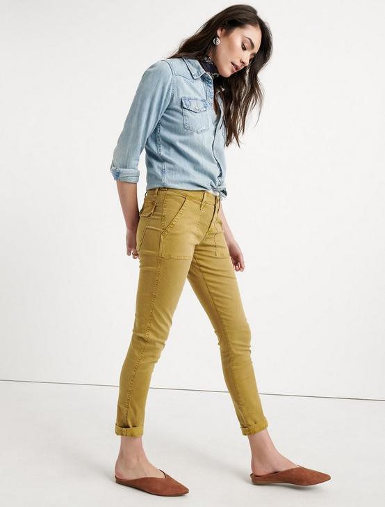 BOYFRIEND UTILITY PANT, WORN GOLD, productTileDesktop
