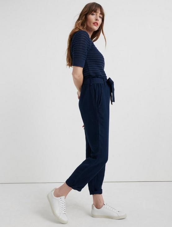 PAPERBAG LINEN PANT, AMERICAN NAVY, productTileDesktop
