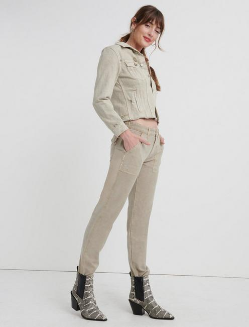 BOYFRIEND UTILITY PANT, CHINCHILLA