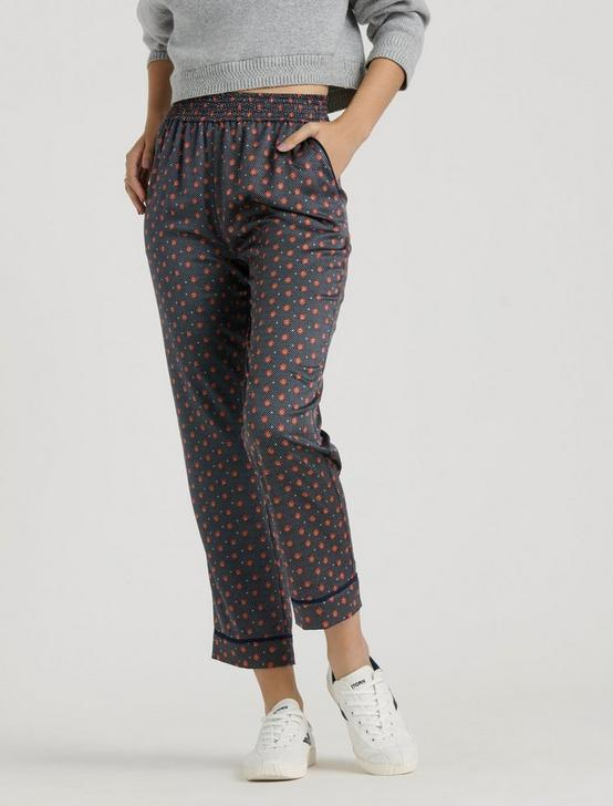 PRINTED AMANDA PANT, NAVY MULTI, productTileDesktop