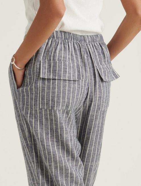 RELAXED LINEN PANT, GREY MULTI