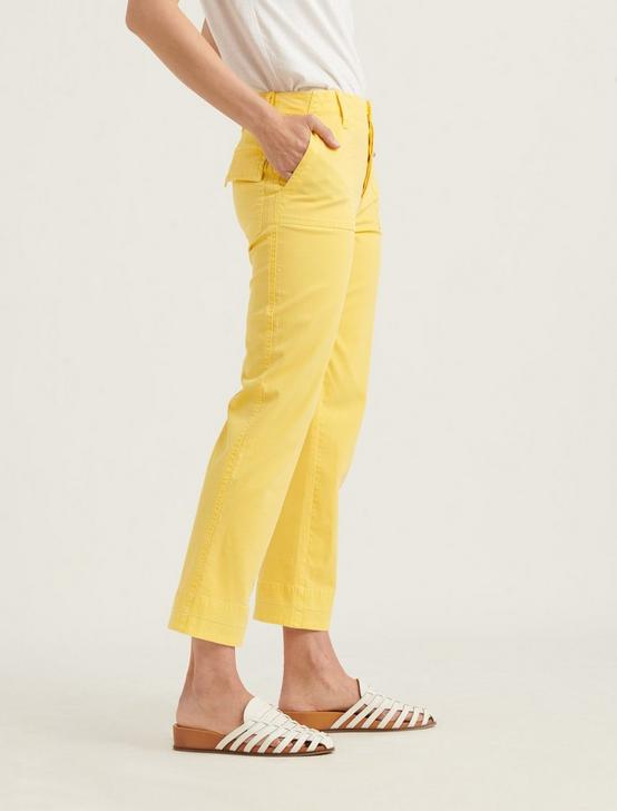 MID RISE UTILITY STRAIGHT PANT, EMPIRE YELLOW, productTileDesktop