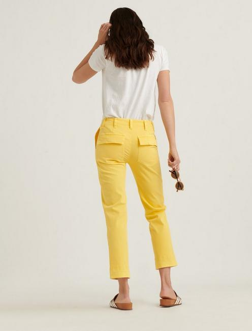 MID RISE UTILITY STRAIGHT PANT, EMPIRE YELLOW