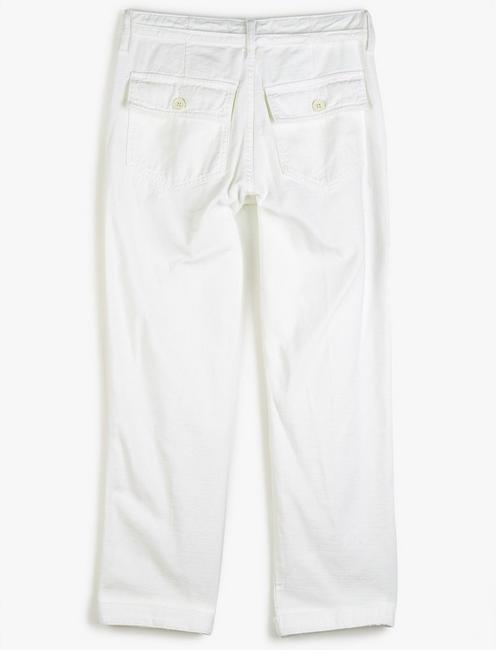 MID RISE UTILITY STRAIGHT, CLEAN WHITE