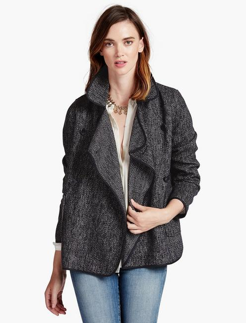 DRAPY FRONT WOOL JACKET,