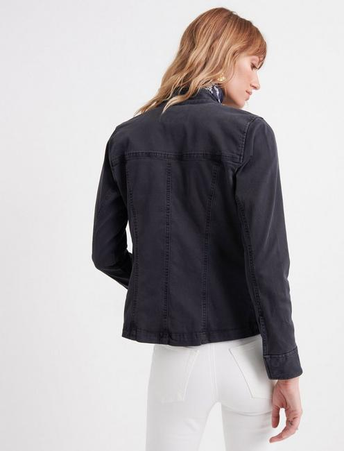 WAISTED UTILITY JACKET, 001 LUCKY BLACK