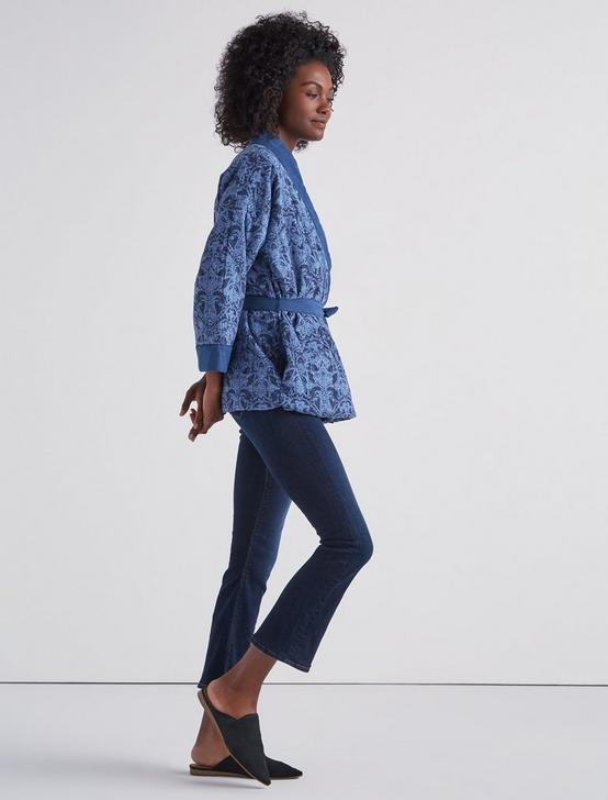 PAISLEY QUILTED JACKET, NAVY MULTI, productTileDesktop